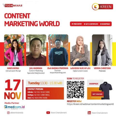 Pertajam Kemampuan Pemasaran dengan Content Marketing Strategy