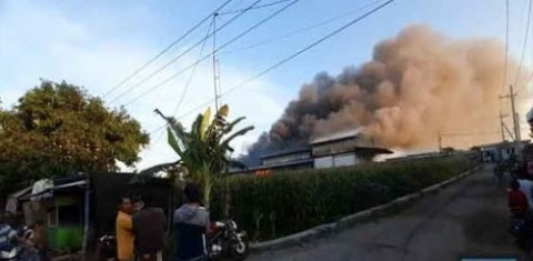 Tempat Usaha Konveksi di Ngawi Terbakar, Kerugian Rp1,5 Miliar
