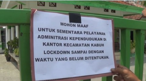 Kantor Kecamatan Kabuh Jombang Ditutup