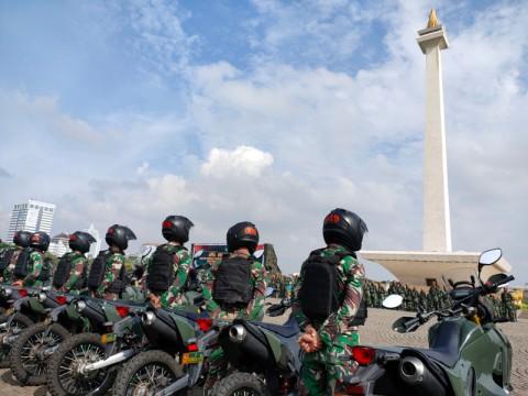 Ribuan Personel TNI Gelar Pasukan Jelang Pilkada dan Musim Banjir
