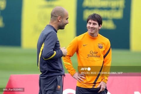 Pep Guardiola Minta Messi Tetap Bersama Barcelona