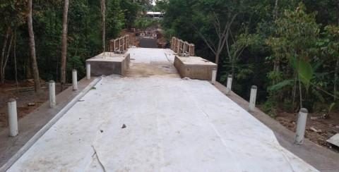 Anggaran Jembatan Gantung Mekar Baru Telan Rp2,6 Miliar