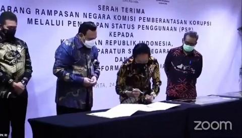 KPK Serahkan Aset Rampasan Hasil Korupsi ke Tiga Lembaga