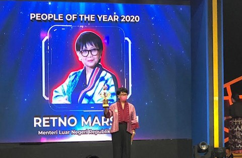 Retno Marsudi Raih Penghargaan People of The Year 2020 Metro TV