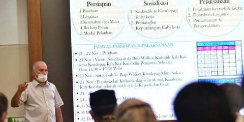 Guru di Aceh Bakal Pakaikan Masker Serentak untuk Sejuta Siswa