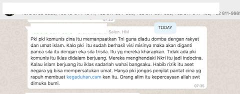 [Cek Fakta] PKI Manfaatkan TNI Adu Domba Rakyat? Ini Faktanya