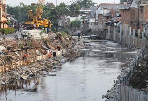 Lahan di Perintis dan Manggarai Terkena Normalisasi Kali Ciliwung