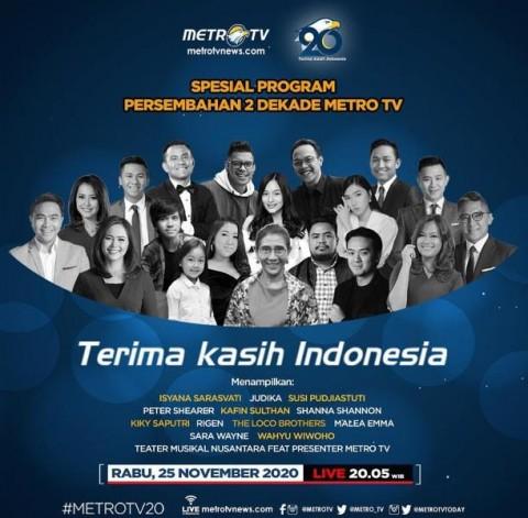 HUT ke-20, Metro TV Hadirkan Program Spesial