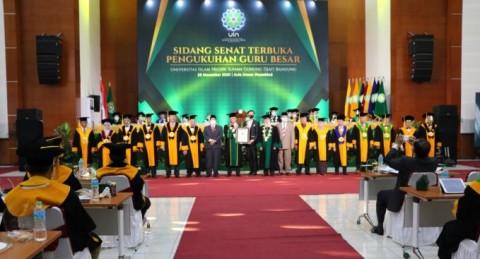Kukuhkan Guru Besar Terbanyak, UIN Bandung Catatkan Rekor MURI
