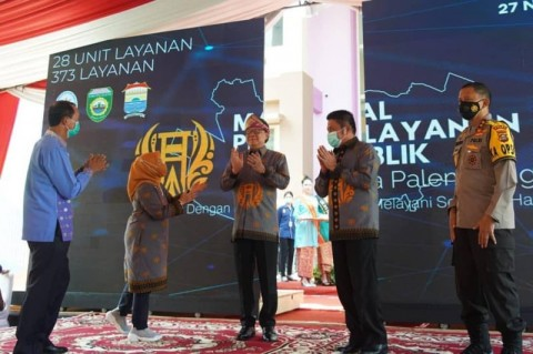 Menpan RB Tjahjo Kumolo dan Herman Deru Resmikan Mal Pelayanan Publik Palembang