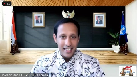 Nadiem Minta PGRI Kawal Rekrutmen Satu Juta Guru PPPK