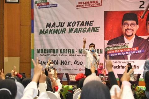 Generasi Milenial Dukung Machfud Arifin-Mujiaman di Pilwalkot Surabaya