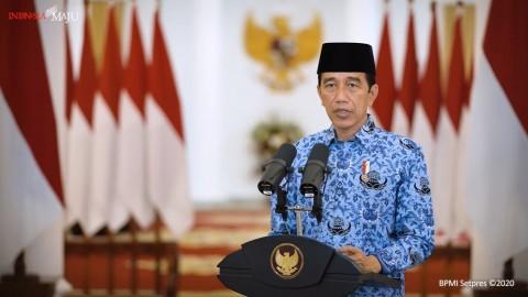 Jokowi Berharap Semangat ASN Terjaga di Tengah Pandemi