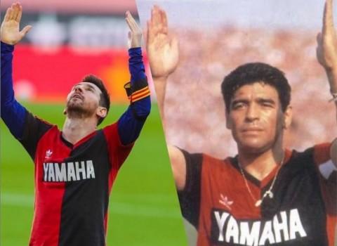 Ketika Messi Menirukan Selebrasi Gol Maradona