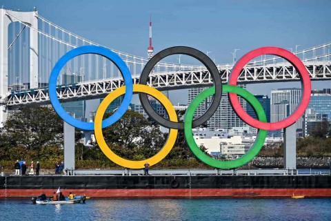 Cincin Olimpiade Kembali Dipasang di Tokyo