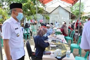 Warga Hadir di Acara Haul di Tangerang Jalani Rapid Tes Massal