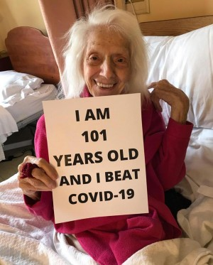 Untuk Kedua Kalinya, Nenek Berusia 102 Tahun Sukses Kalahkan Covid-19