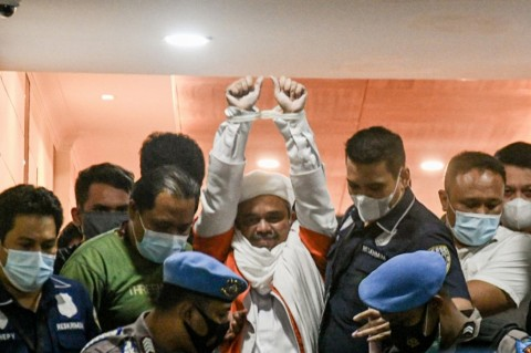 Rizieq Shihab Jalani Sidang Praperadilan Perdana