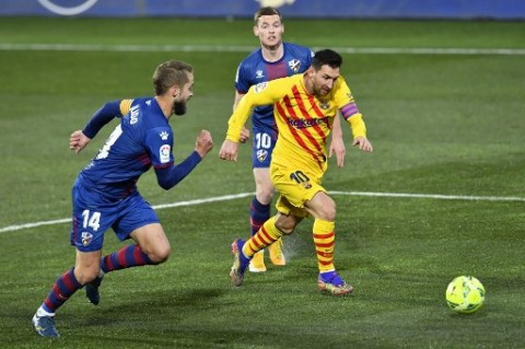 Huesca vs Barcelona: Tandai Laga ke-500 Messi, Blaugrana Menang Tipis dari Juru Kunci