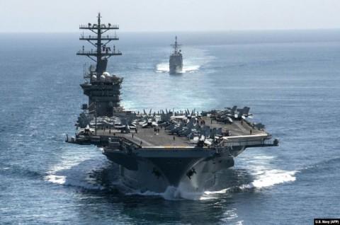 AS Siagakan Kapal Induk untuk Halau Ancaman Iran