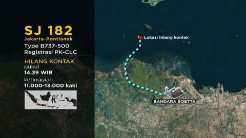 Basarnas Fokus Cari Titik Jatuh Pesawat Sriwijaya Air