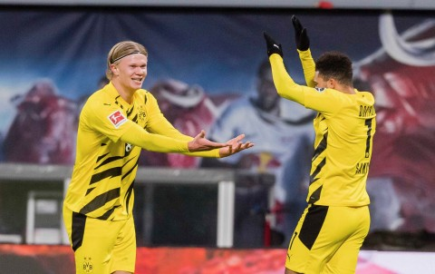 RB Leipzig vs Borussia Dortmund: Brace Haaland Menangkan Dortmund