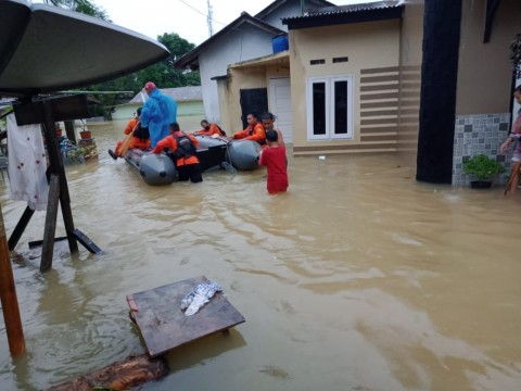 Banjir Landa Tanjungpinang, Basarnas Evakuasi Warga di Tiga Kelurahan