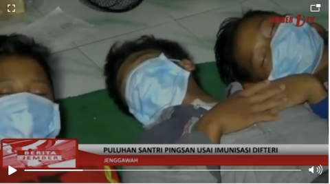 [Cek Fakta] Video Puluhan Santri Pingsan usai Disuntik Vaksin Difteri? Ini Faktanya