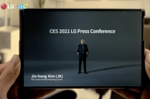 LG Rilis Teaser Ponsel Layar Gulung di CES 2021