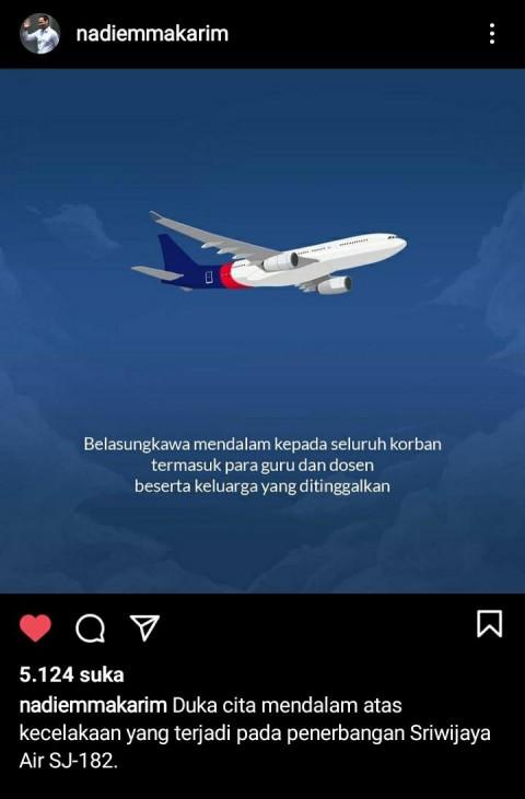 Guru dan Dosen Jadi Korban Jatuhnya Sriwijaya Air, Nadiem Sampaikan Belasungkawa