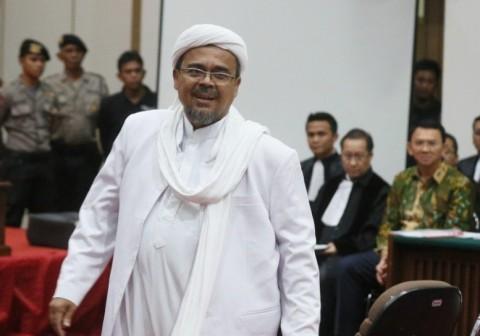 Hakim Tolak Gugatan Praperadilan Rizieq Shihab