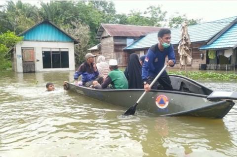 Banjir di Kalsel Semakin Tinggi