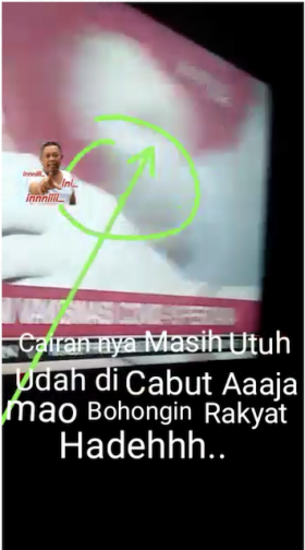 [Cek Fakta] Cairan Vaksin tidak Masuk ke Tubuh Jokowi? Ini Faktanya