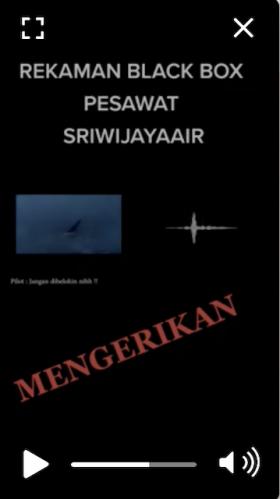 [Cek Fakta] Beredar Rekaman <i>Black Box</i> Sriwijaya Air SJ 182? Ini Faktanya