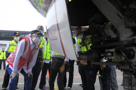 Cek Keselamatan Pascainsiden Sriwijaya Air, Menhub Tinjau Bandara Soetta