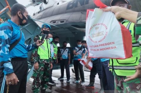 Bantuan Presiden untuk Kalsel Dikirimkan via Udara