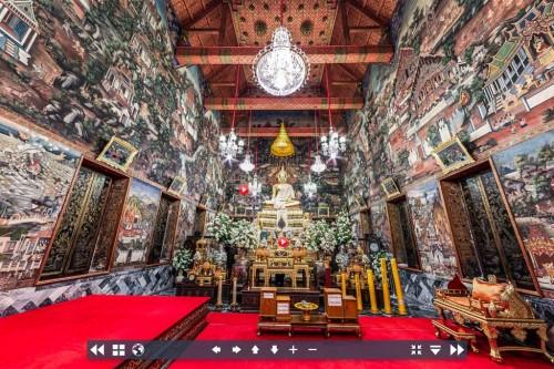 Gambaran virtual tur Wat Arun, Thailand. (Foto: Bangkok Post)