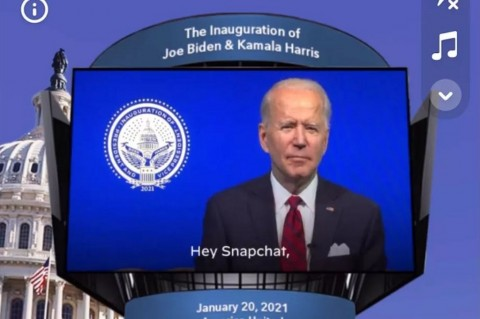 Biden Rencanakan Lensa Snapchat Hari Inagurasi