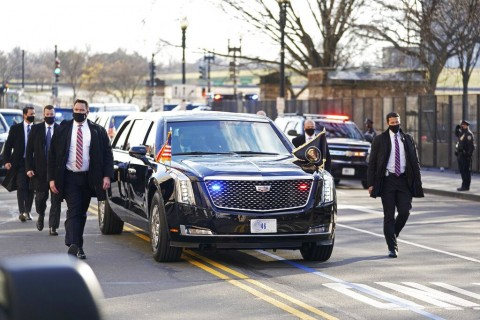 Joe Biden Diarak Pakai Mobil Bekas dengan Plat Nomor Baru