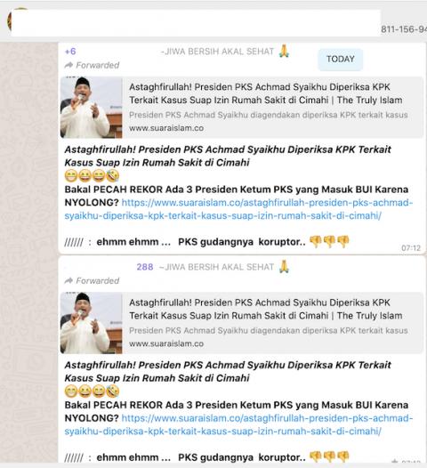[Cek Fakta] Presiden PKS Diperiksa KPK terkait Kasus Suap Izin Rumah Sakit di Cimahi? Ini Faktanya