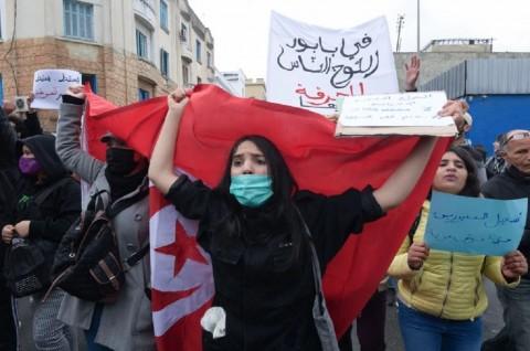 Ratusan Warga Tunisia Protes Tingginya Angka Pengangguran