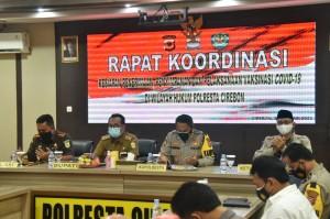 Polresta Cirebon Siagakan Anggota Kawal Kedatangan Vaksin Covid-19