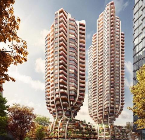 Sepasang Apartemen Berbentuk Unik Bakal Menghiasi Langit Vancouver