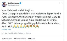 Eks Kasad Wismoyo Arismunandar Meninggal, Susi Pudjiastuti Ikut Sampaikan Belasungkawa