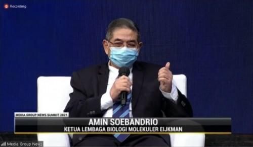 Kapan pandemi akan berakhir? Ini paparan Prof. Amin Soebandrio. (Foto: Dok. MGN Summit/Media Group)