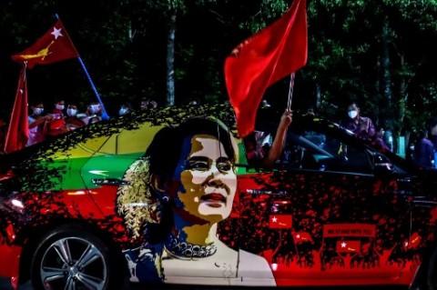 PM Inggris Kutuk Ulah Milter Myanmar Kudeta Aung San Suu Kyi