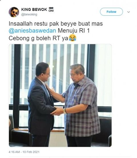 [Cek Fakta] SBY Resmi Dukung Anies di Pilpres 2024? Ini Faktanya