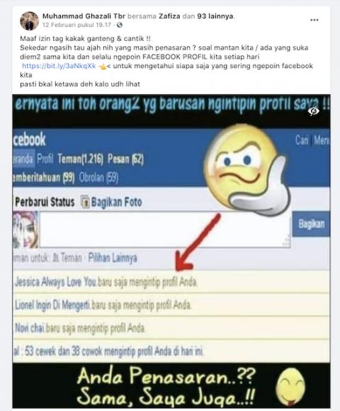 [Cek Fakta] Beredar <i>Link</i> untuk Mengetahui Siapa Saja yang Sering Mengunjungi Facebook Kita? Cek Faktanya