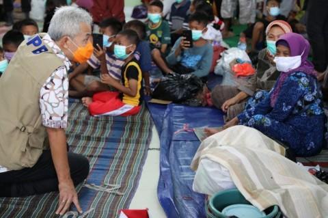 Ganjar Minta Ruang Pengungsian Banjir Pekalongan Disekat