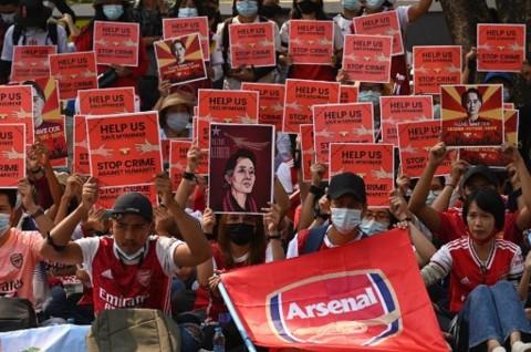 Demo Menentang Kudeta Myanmar Berlanjut usai Kematian 2 Demonstran